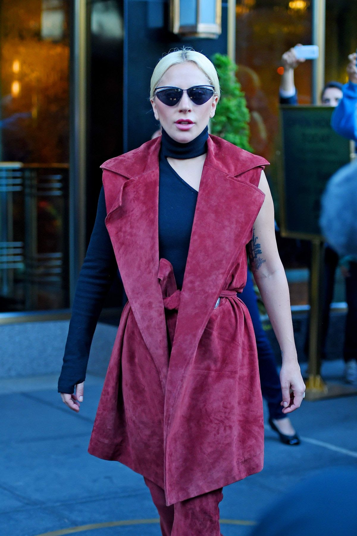 LADY GAGA Out and About in New York 11/03/2015