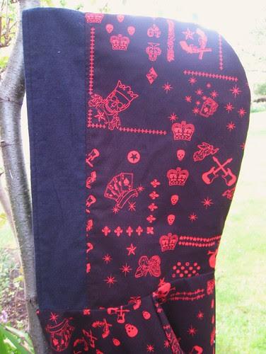 Pirate hoodie- hood detail