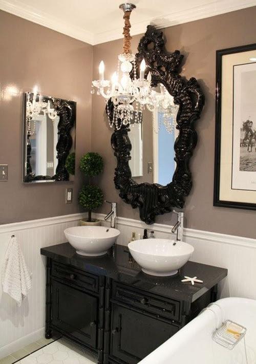 Victorian Bathroom Curtain Ideas - Interior design