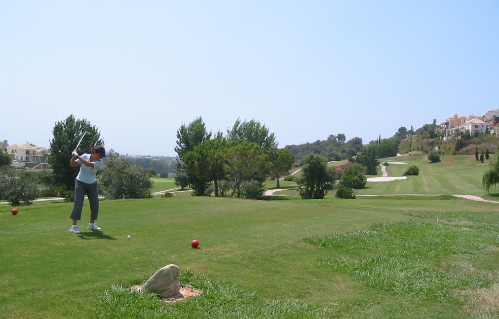 Ich beim Abschlag am New Course, Atalaya Golf Club Estepona - Marbella, Atalaya Golf & Country Club International