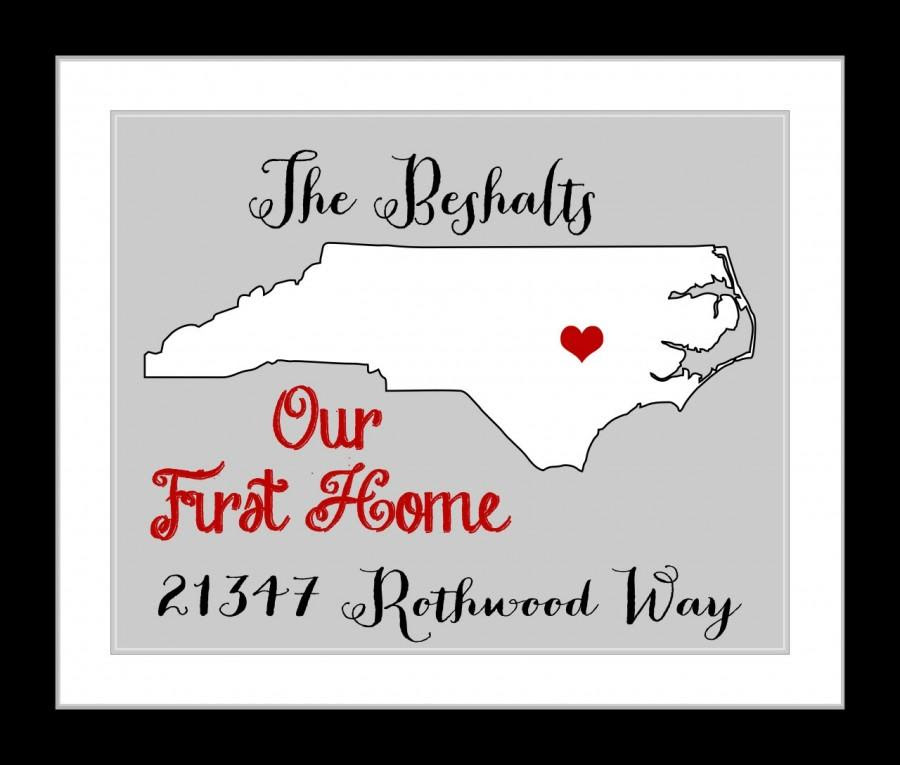 Our First Home Housewarming Gift Custom Map State Print Add Quote