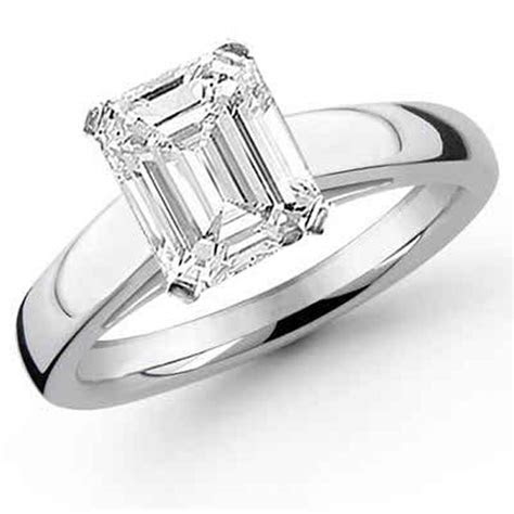 New Designs Of Emerald Cut Engagement Rings 2015