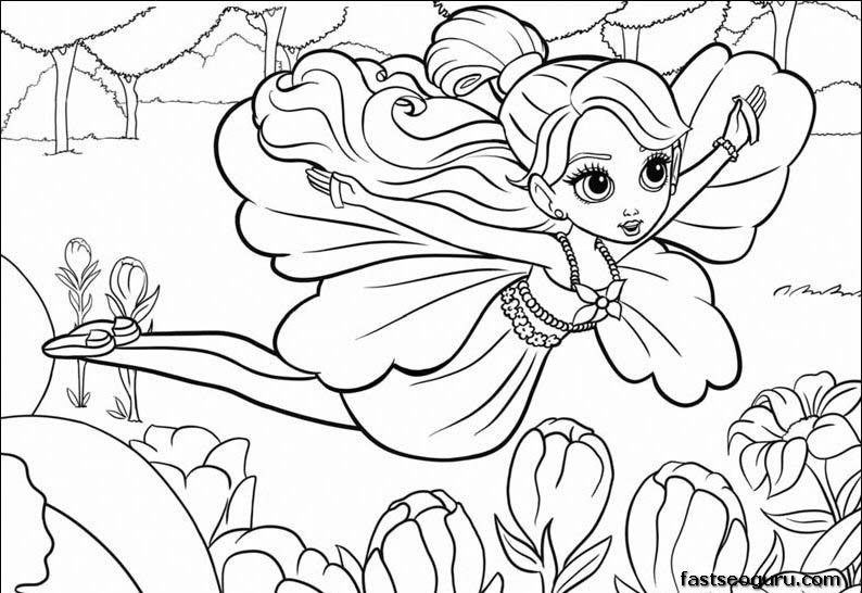 510 Top Barbie Thumbelina Coloring Pages  Images