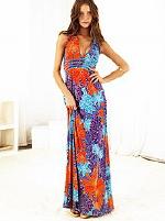 Victoria's Secret V-neck Halter Jersey Maxi Dress