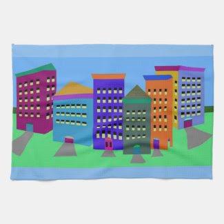 City Art Hand Towel