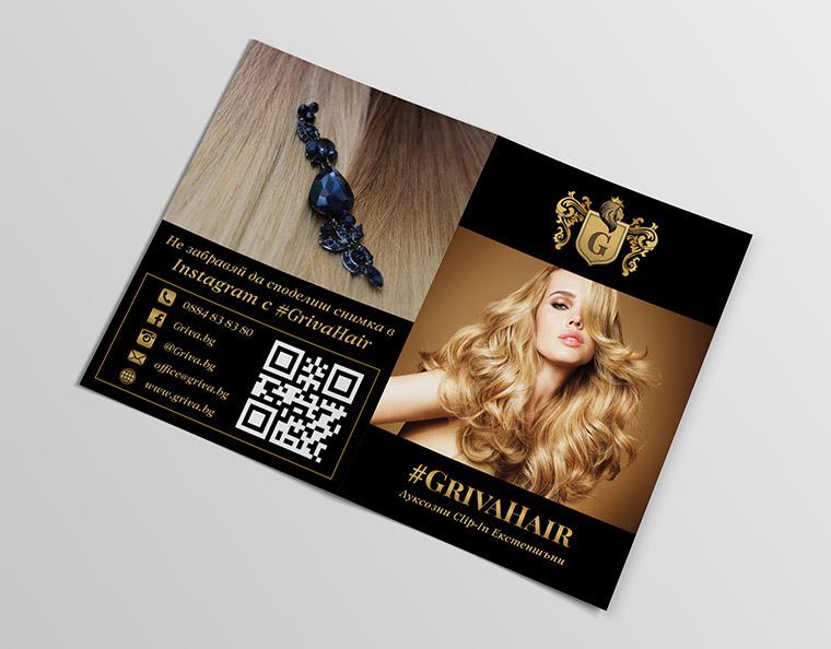 bifold brochure design beauty hair care