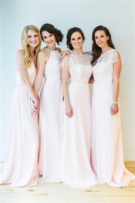 affordable blush bridesmaid dresses