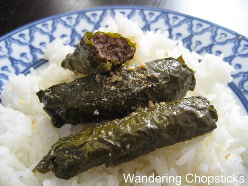 Bo Nuong La Nho (Vietnamese Grilled Beef-Stuffed Grape Leaves) 1