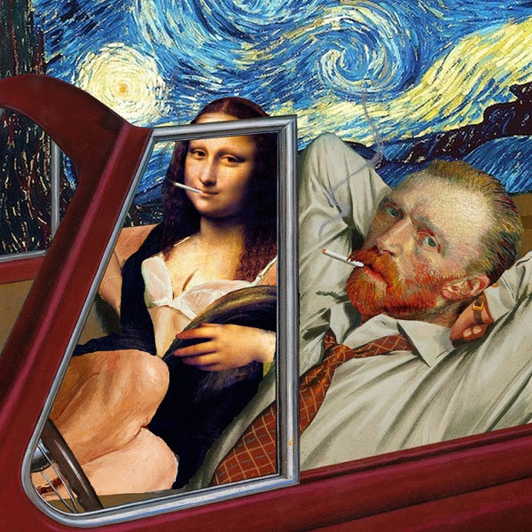 Barry Kite collage humor pintura clasica