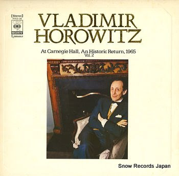 HOROWITZ, VLADIMIR at carnegie hall, an historic return 1965 vol.2