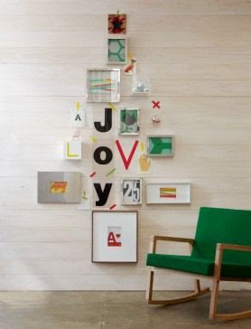 DIY picture frame Christmas tree!