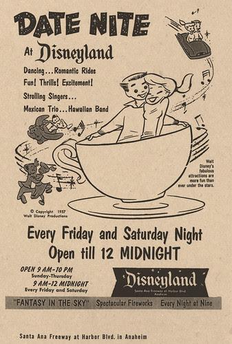 Date Nite at Disneyland 1957