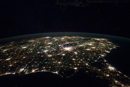 Southeastern Usa At Night Nasa International Space Stati
