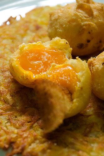 yema de huevo en tempura