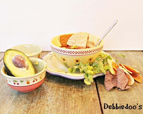#chicken tortilla soup in a #crockpot recipe