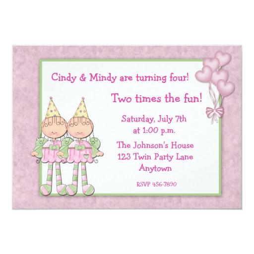 Carte Invitation Anniversaire Jumelles   tasyafiolarara site
