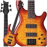 Dean Edge Quilt Top 5-String Bass, Trans Amberburst