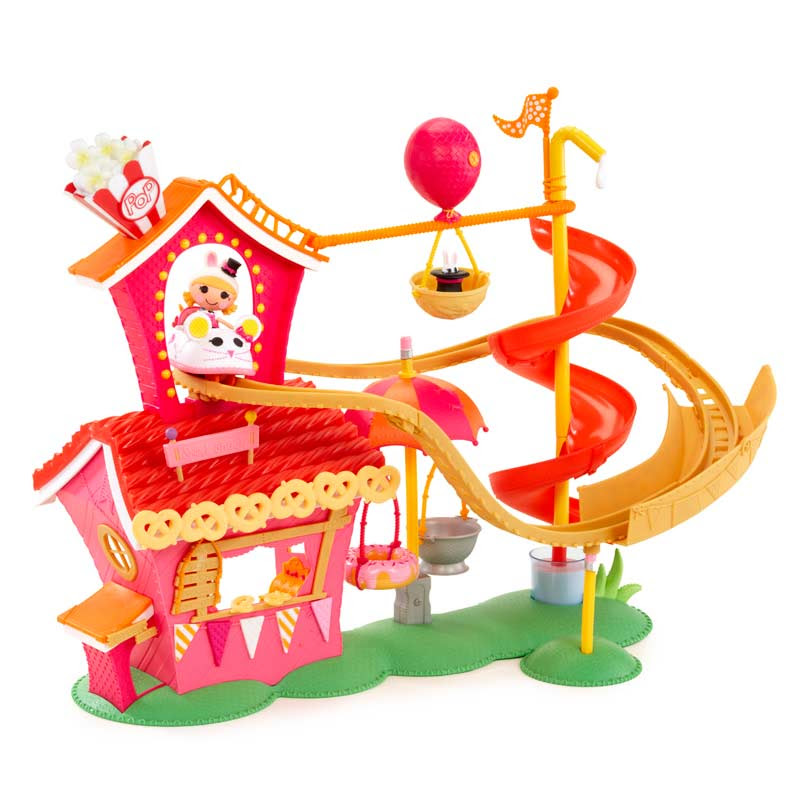 Amazon.com: Mini Lalaloopsy Silly Fun House Playset with Misty ...