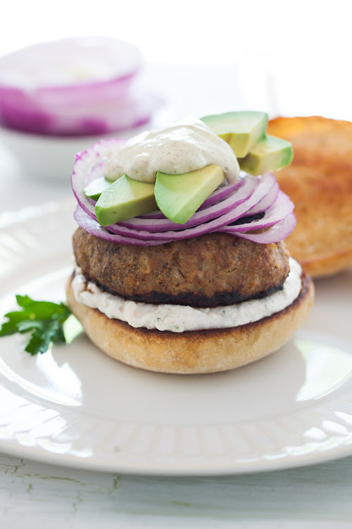 Burger with Avocado and Onion 1