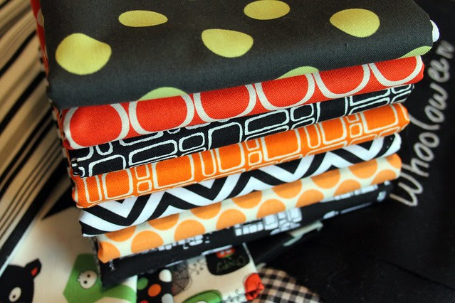 Fabrics -- Orange and Black