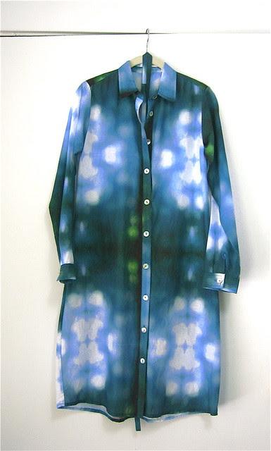 ERMIE Bokeh Print Shirt Dress