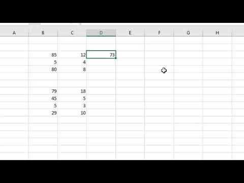 Microsoft Excel formula para Restas (Principiantes)