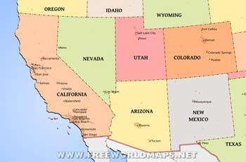 Us Map Southwest Usa
