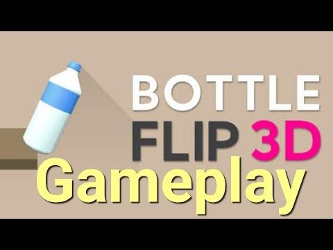 Bottle Flip 3D gameplay - Jogo disponível para Android 2020
