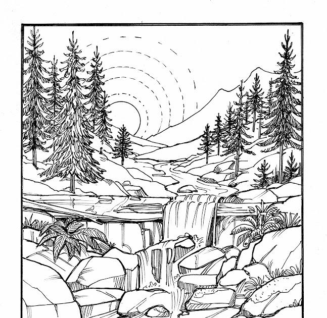 ausmalbilder für erwachsene landschaften winter