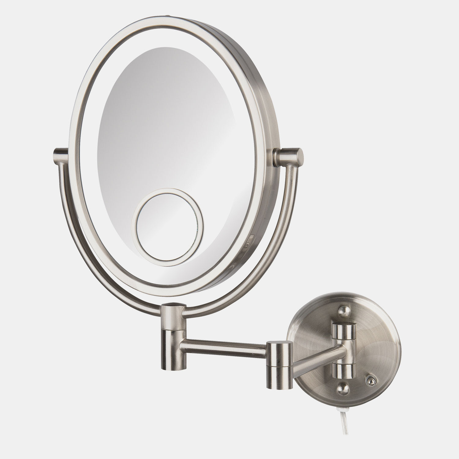 Jerdon HL9515NL Oval LED Lighted Wall Mount Mirrors 1X-10X ...