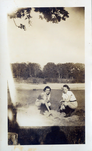 Two Women at seashore