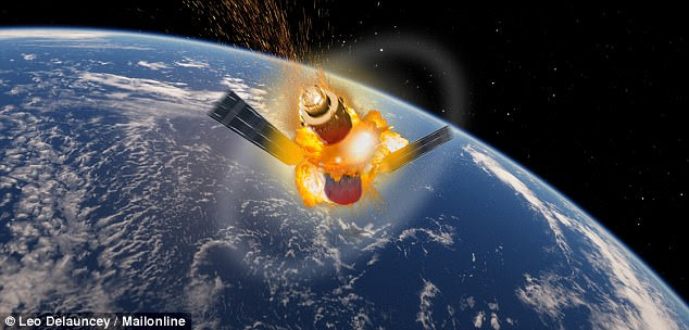 Much of the spacecraft is expected to burn up in the atmosphere upon re-entry. But owing to the station's mass and construction materials, there is a possibility that some portions of it will survive and reach the surface (artist's impression pictured)