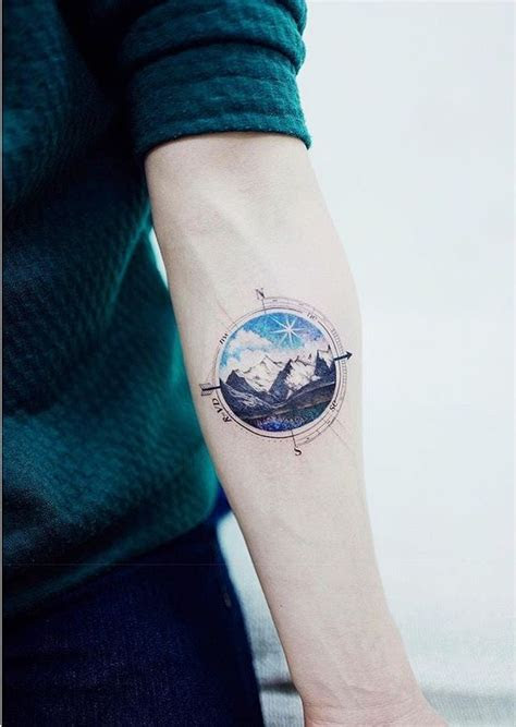 mountain  compass tattoo  sea lovers  sailors
