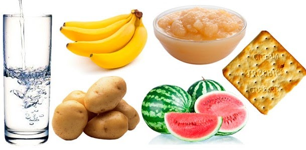 em caso de diarréia? o que comer?