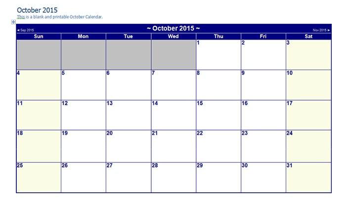 25+ Best Editable Calendar Templates & 2015 Designs   Free ...