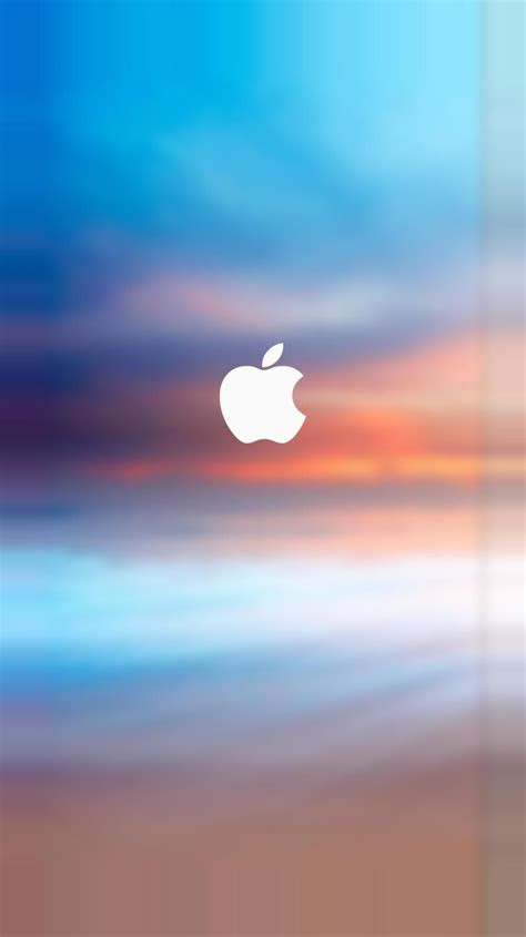 apple logo splash parallax turquoise iphone   iphone