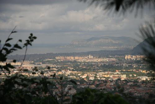 Palermo city panorama from Monreale