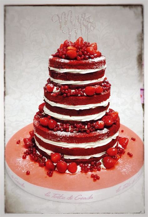 Naked Wedding Cake Red Velvet con crema alla vaniglia e
