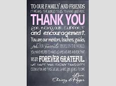 5X7 Thank You Cards for Place setting or framed on table Chalkboard style   wedding ideas