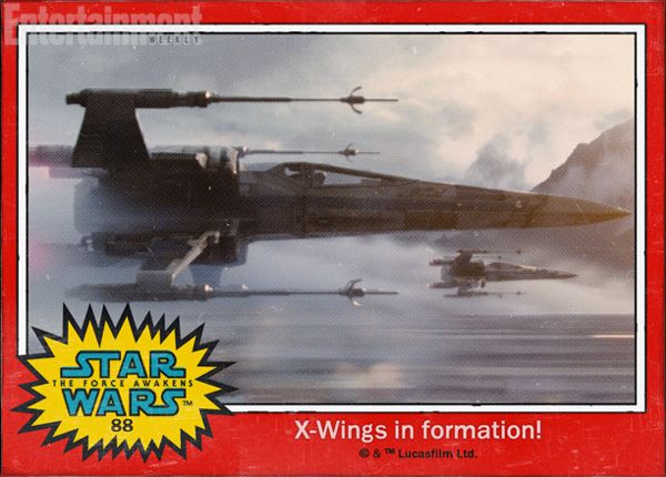 X-Wings fly in formation in STAR WARS: THE FORCE AWAKENS.