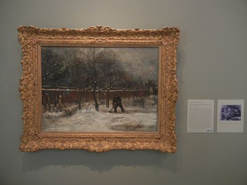 DSCN7749 _ Winter (The Vicarage Garden under Snow), 1885, Vincent van Gogh (1853-1890), Norton Simon Museum, July 2013