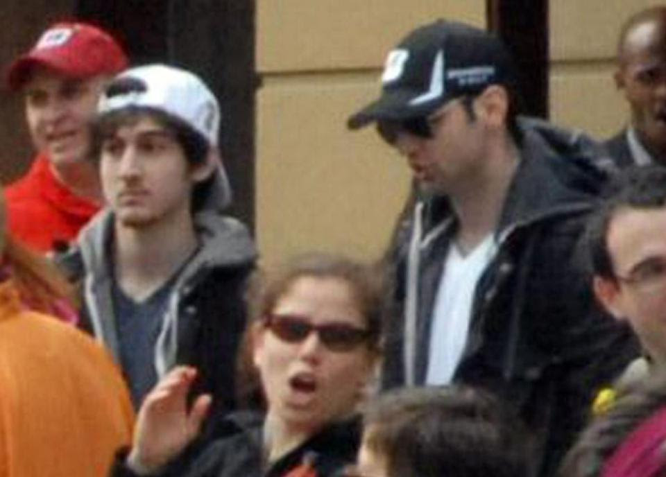 Dzhokhar Tsarnaev (second from left) was found guilty of all 30 counts stemming from the Marathon bombings. His brother, Tamerlan (third from left), was killed during a shootout with police in Watertown.