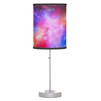 Monogram Cigar Galaxy, Messier 8 space picture Table Lamp