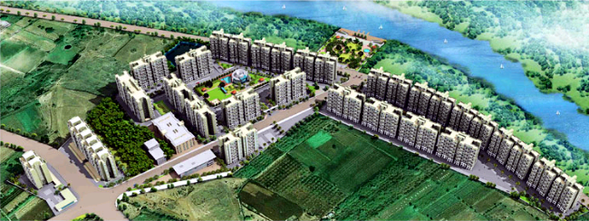 Ishwar Parmar Group's River Residency on Dehu Alandi Road at Chikhali, PCMC, Pune 412114 - Layout Plan