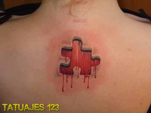 Pieza De Puzzle Sangrienta Tatuajes 123