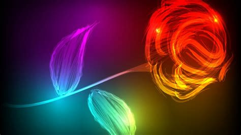 wallpaper rose neon colors hd creative graphics  wallpaper  iphone android