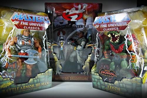 Haul! Matty goodness: Battle-Armor He-Man, Leech & Slime-blower Winston!