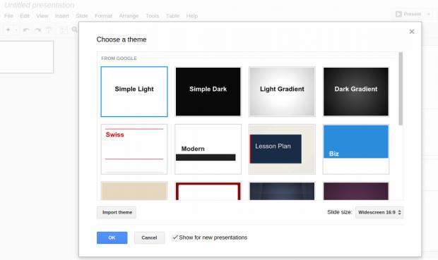Preselect A Default Theme For All New Slide Presentations Google - Google doc slide themes