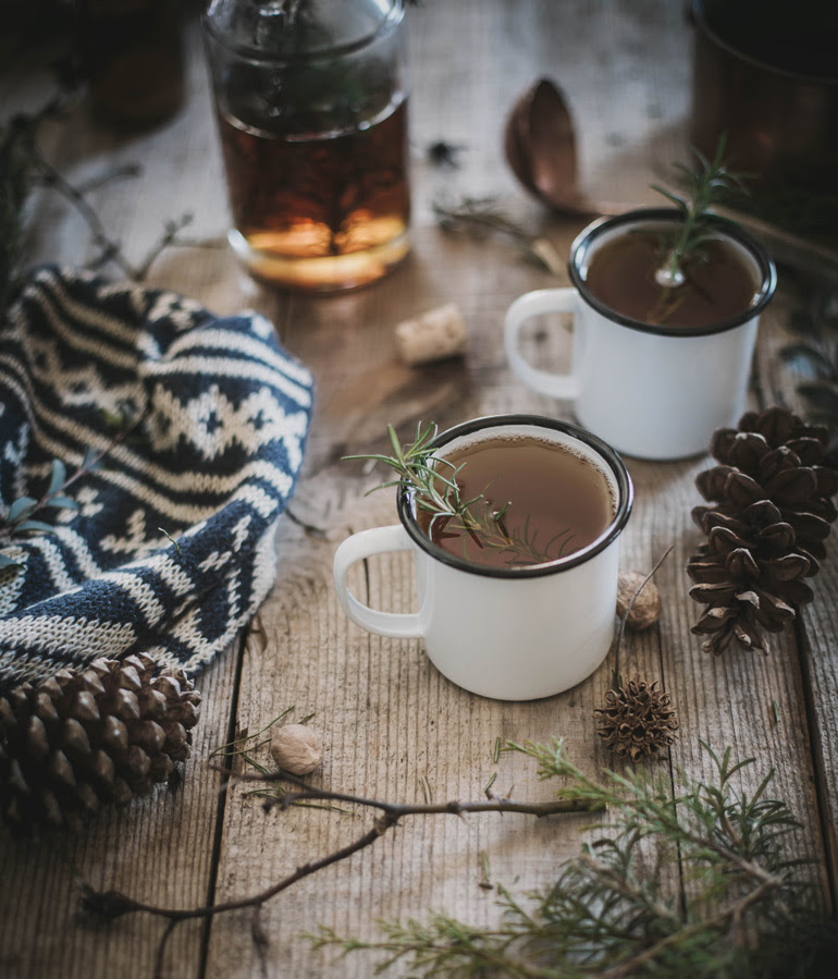 Hot Buttered Fig + Rosemary Bourbon Cider recipe by Beth Kirby | west elm