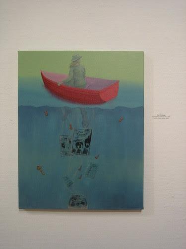 Leaky Boat on Memory Bay by Lisa Glicksman, Green - Berkeley Art Center Member Show 2010 _ 9408